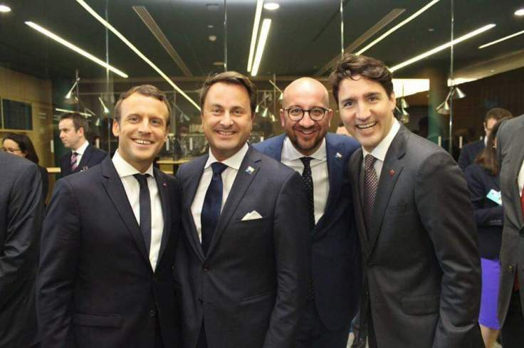 French president Macron age 39, Luxembourg prime minister Bettel age 44, Belgium Prime minister Michel age 41, Canadian Prime minister Trudeau age 44