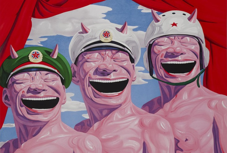 Yue-Minjun-Armed-forces-2009.-Image-via-Weng-Contemporary